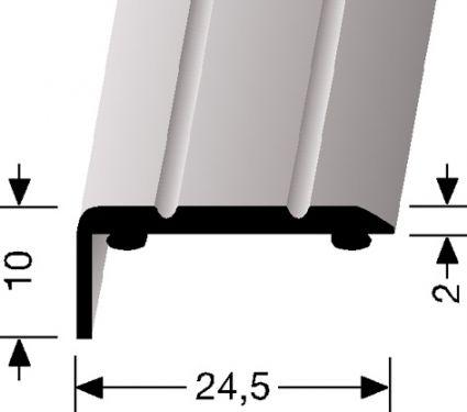 HOEKSTRIP 10MM HOOG - Aluminium