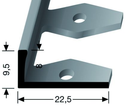 FLEXSTRIP 9,5MM - Grau