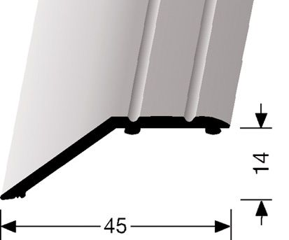 AFDEKSTRIP GEBOGEN 14MM - Aluminium